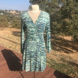 Cynthia Rowley Wrap V Neck Dress XL